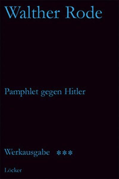 Pamphlet gegen Hitler