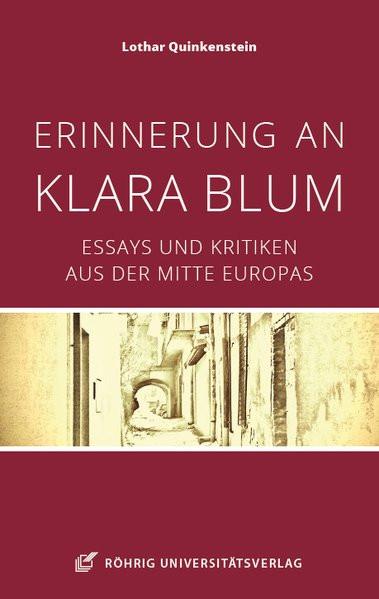 Erinnerungen an Klara Blum