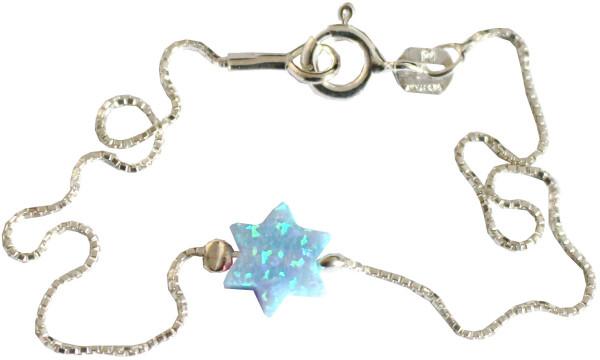 Armband *Stern Opal* hellblau