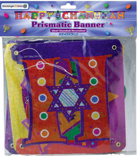 Chanukka Girlande *Happy Chanukkah* bunt ca 2,3m lang