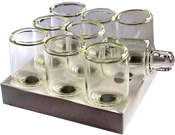 Glasbehälter für Öl-Chanukkia 9 St. 5cm