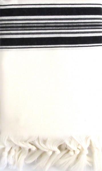 Tallit Wolle schwarz (M/60) 190x140 cm