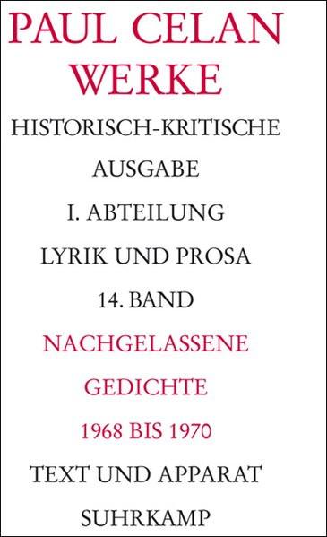 Nachgelassene Gedichte 1968-1970