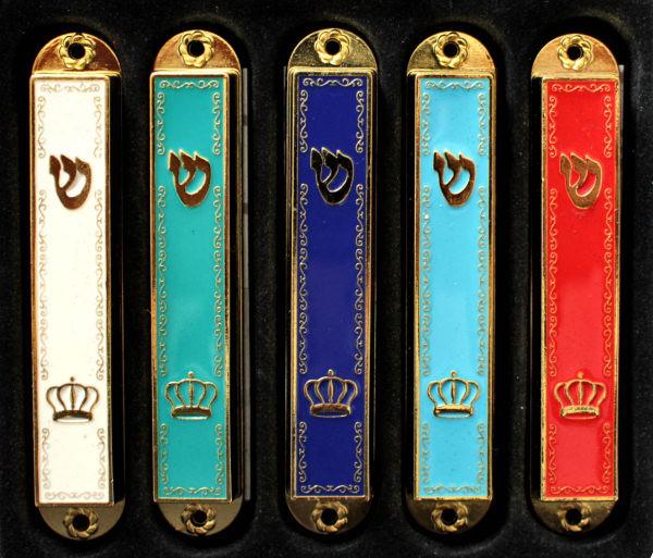 Mesusa *Krone* diverse Farben emailliert 9cm (1-teilig)