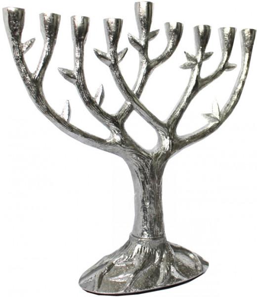 Chanukkia *Lebensbaum* Alu antik 21,5cm