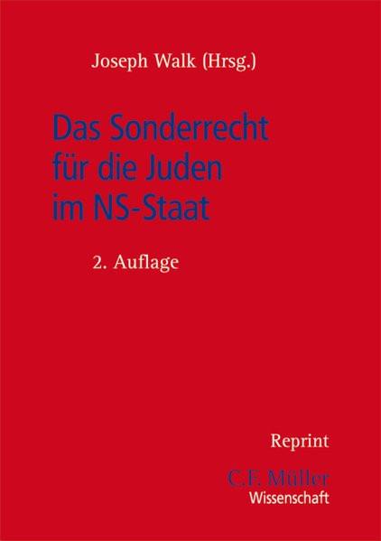 Das Sonderrecht für die Juden im NS-Staat