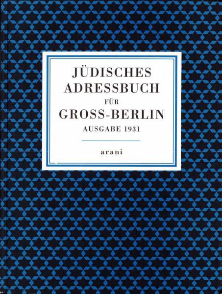 Jüdisches Adressbuch für Gross-Berlin
