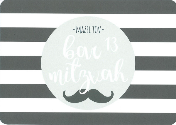 Bar Mitzvah Moustache