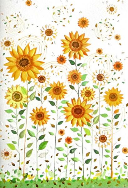 Notizbuch - Sonnenblumen