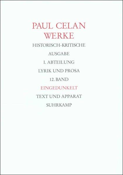 Werke. Bd. 12: Eingedunkelt