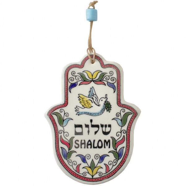 Haussegen Chamsa *Shalom* armenische Keramik 15cm