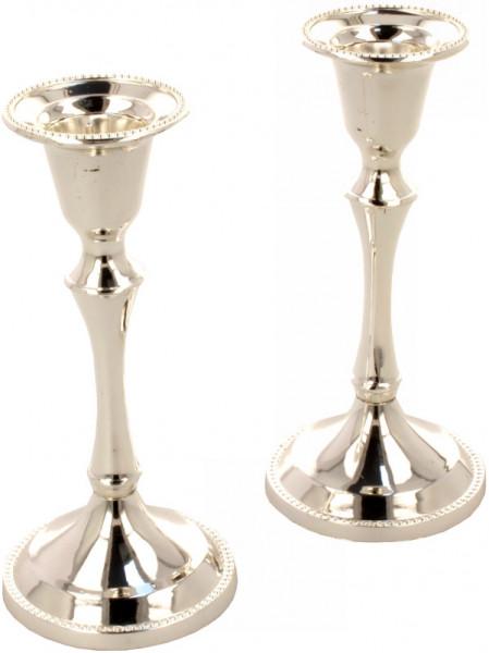 Kerzenständer Schabbat 2-teilig, versilbert SP Gr.2 13
