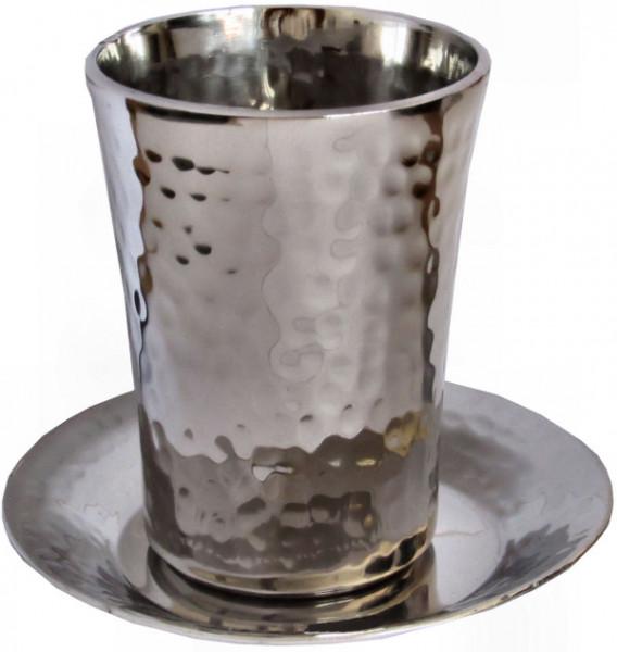 Kiddusch Becher *gehämmert* Stainless Steel 8cm
