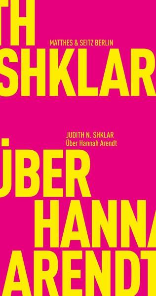 Über Hannah Arendt
