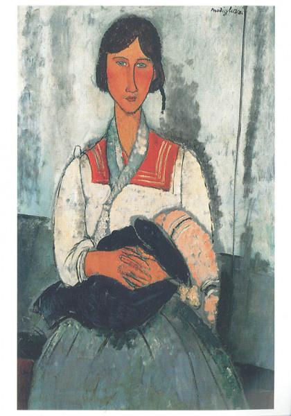 Amedeo Modigliani: Zigeunerin mit Baby, 1919