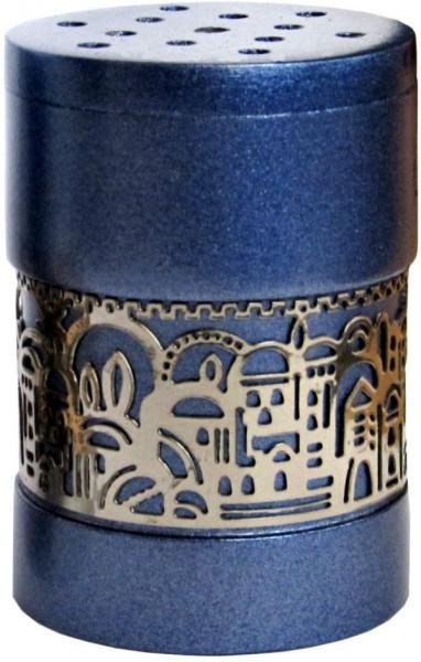 Besamim Gewürzdose für Hawdala *Jerusalem* blau/silber 5cm