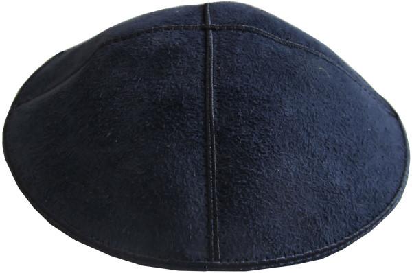 Kippa Leder blau
