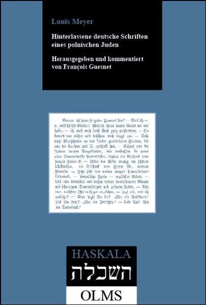 Hinterlassene deutsche Schriften eines polnischen Juden