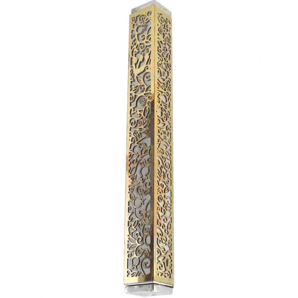 Mesusa *Granatapfel* gold/silber 15cm