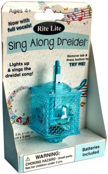 Dreidel mit Musik und Lichteffekten aus Kunststoff in blau oder violett ca 8cm