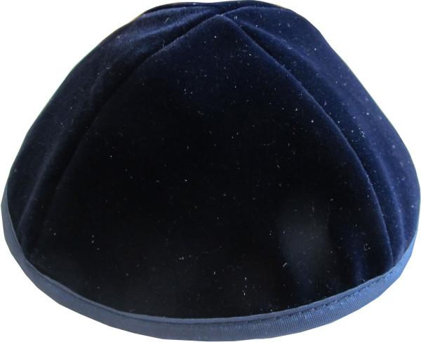 Kippa Samt dunkelblau 20 cm