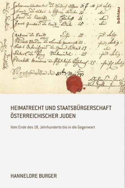 Heimatrecht und Staatsbürgerschaft österreichischer Juden
