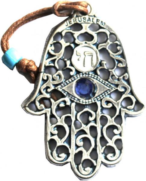 Haussegen Chamsa *filigran* mit blauem Stein (klein)