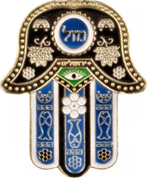 Magnet Chamsa, metall, blau