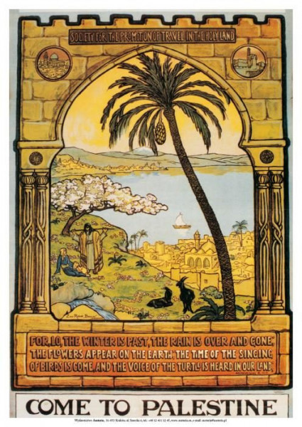 Poster *Welcome to Palestine* bunt 48x68cm