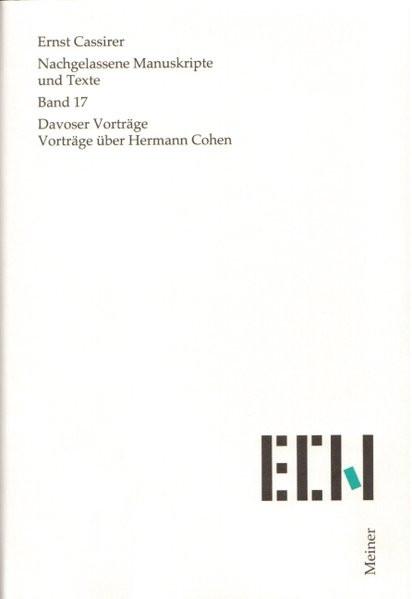 Davoser Vorträge. Vorträge über Hermann Cohen
