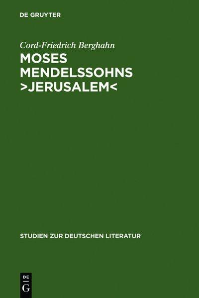 "Moses Mendelssohns ""Jerusalem"""