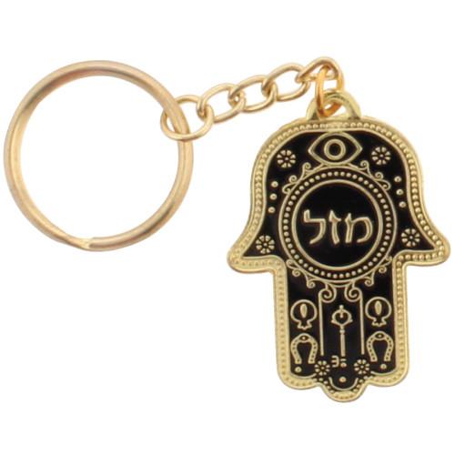 Schlüsselanhänger *Mazel* schwarz/gold