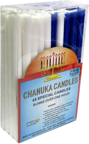 Chanukka Kerzen *blau/weiss* 13,5 cm