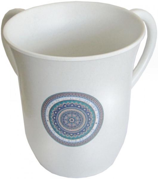 Netillat Yadaim Handwaschkrug *Kreise* Kunststoff 13,5cm