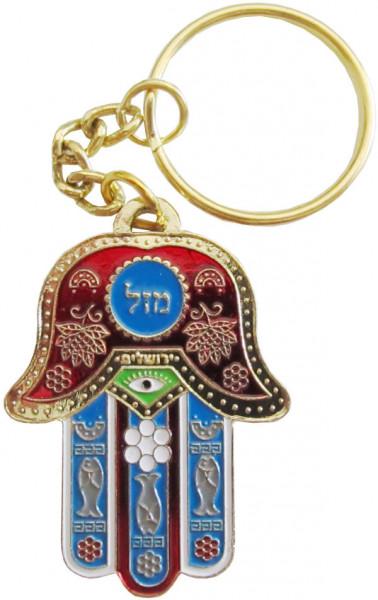 Schlüsselanhänger Chamsa *Mazel* rot 6cm