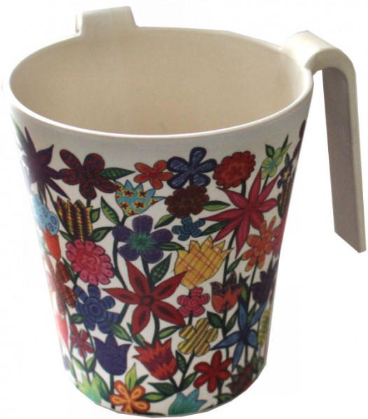 Netillat Yadaim Handwaschkrug *Blumen* Kunststoff 13,5cm