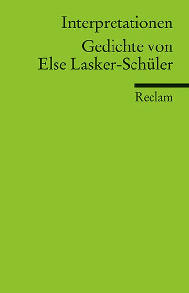 Gedichte von Else Lasker-Schüler