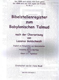Bibelstellenregister zum Babylonischen Talmud