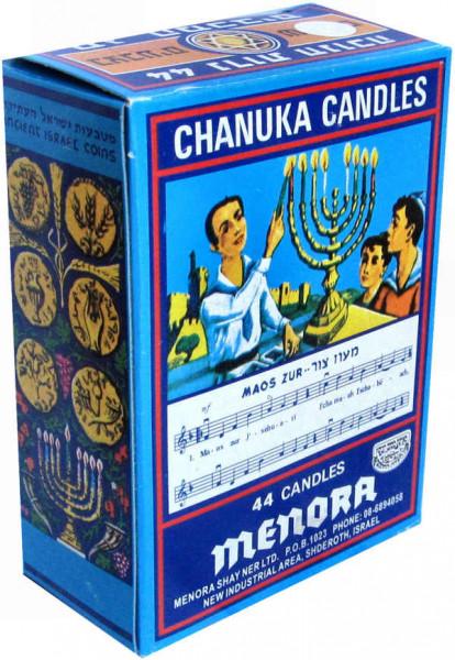 Chanukka Kerzen *weiss* klein 9,5 cm