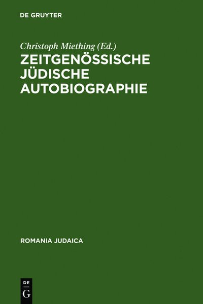 Zeitgenössische Jüdische Autobiographie