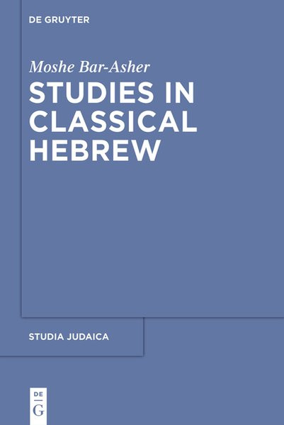 Studies in Classical Hebrew