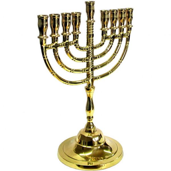 Chanukkia *klassisch* Messing gold 20cm