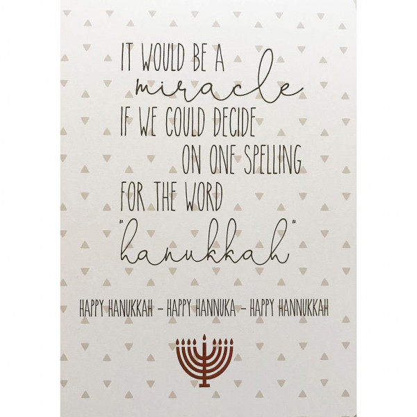 Happy Hanukkah - Miracle
