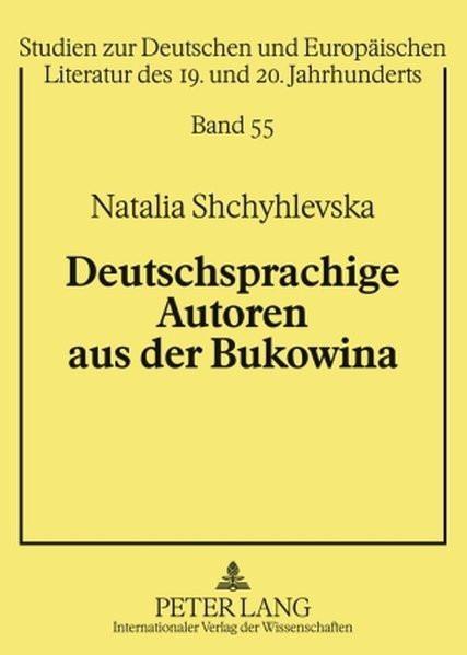 Deutschsprachige Autoren aus der Bukowina
