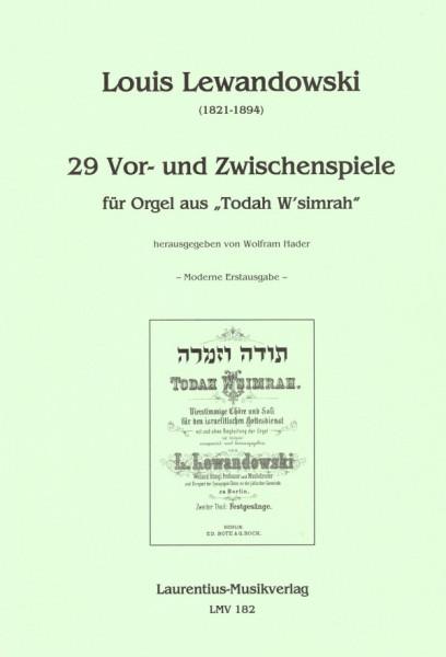 """29 Vor- und Zwischenspiele für Orgel aus """"Todah W'simrah"""""""