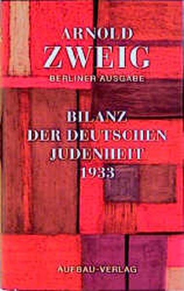 Bilanz der deutschen Judenheit 1933. Ein Versuch