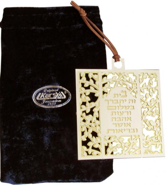 Haussegen *HaBait* filigran versilbert 10x10cm