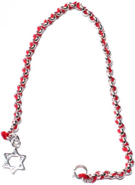 Silberarmband *Stern* mit Kabbala-Bändchen