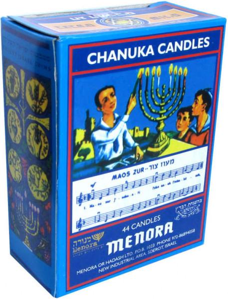 Chanukka Kerzen *bunt* klein 9,5 cm