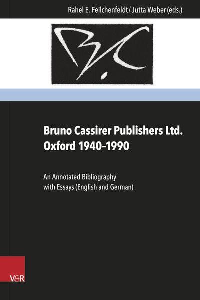 Bruno Cassirer Publishers Ltd. Oxford 1940-1990